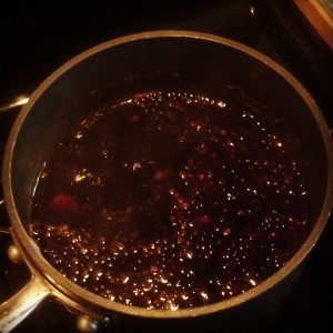 Simmering Elderberry Mixture