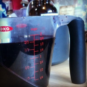 Measuring Elderberry Juice